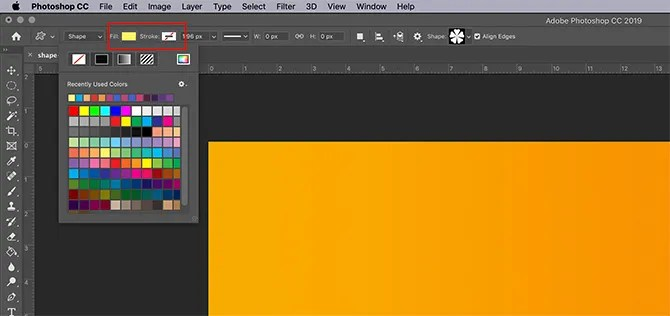 How to Use Custom Shape Tool Photoshop Fill and Stroke