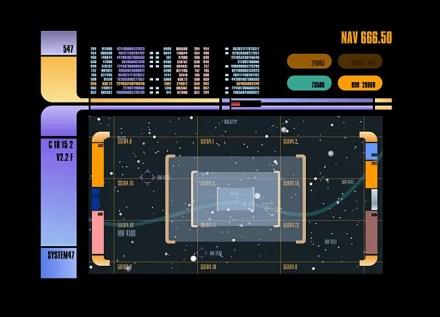 System 47 is a Star Trek Screensaver