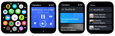 Apple Watch Streaming Apps Pandora App Faces