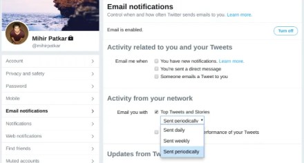 How to get email notifications from Twitter with the best tweets for you