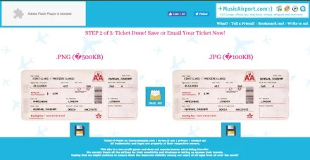 create a fake airline ticket with ticket-o-matic