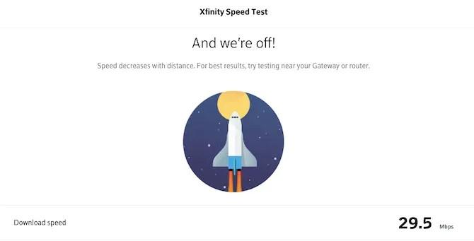 xfinity speed test