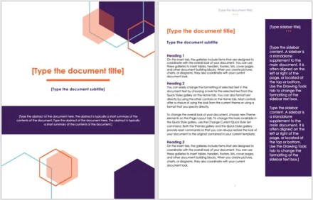 Cover Page Template-MS Office Executive