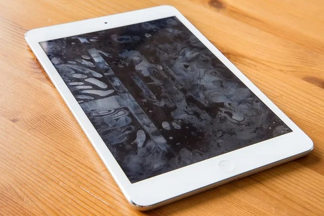 An iPad covered in fingerprints