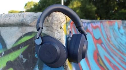 Jabra Elite 85h Headphones in a skatepark