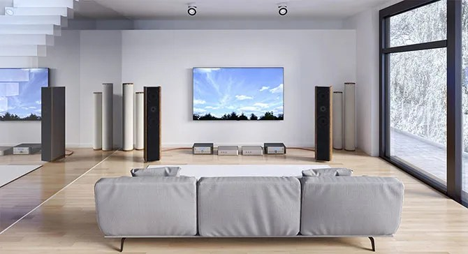 Hysolid running in a living room