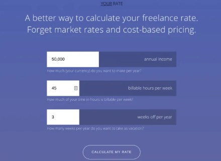 Calculate your daily, weekly, and hourly rate with real-world protections at Your Rate