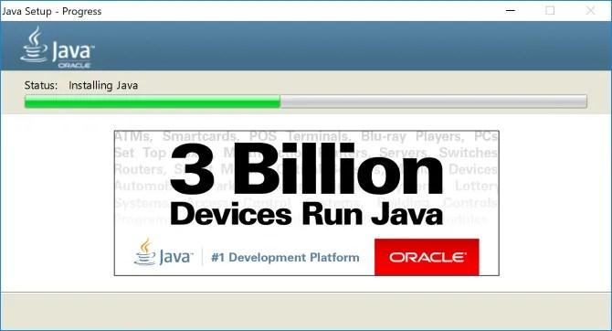 Installing Java on Windows