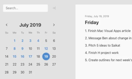 Mini Diary app view on Mac