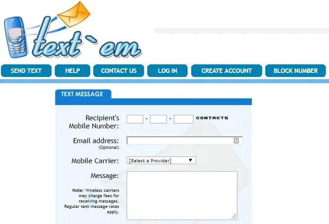 sms gratis Online