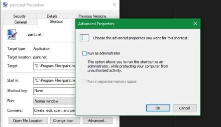 Windows Run Shortcut as Admin