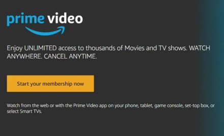 amazon prime video signup