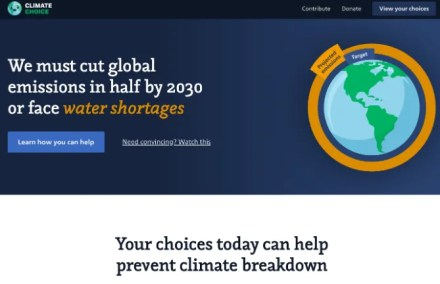 ClimateChoice is a one-stop destination to find out how you can change your lifestyle in small ways to fight climate change and global warming