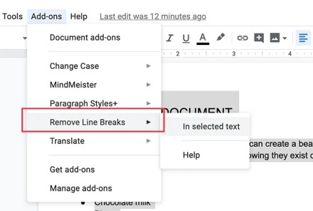 Remove Line Breaks to make documents look better