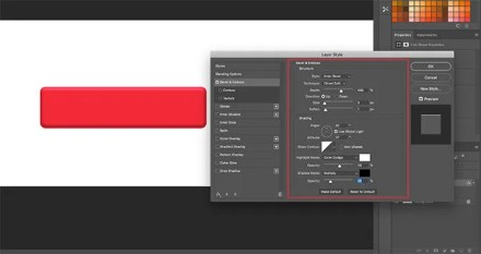 Bevel and Emboss Rectangle in Photoshop