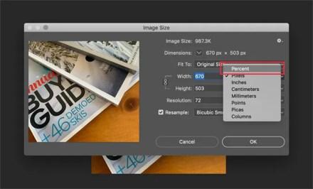 Photoshop Image Size Dialog Box