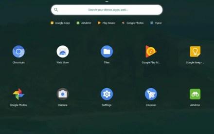 Pre-installed Chrome OS apps