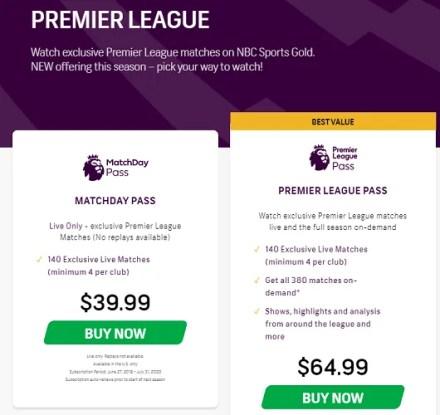 nbc premier league pass