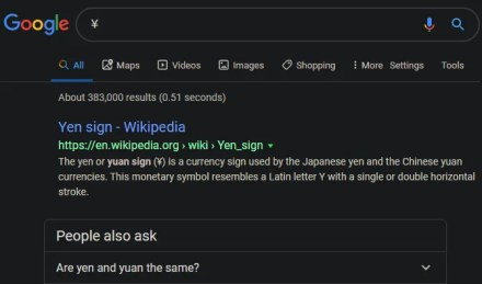 Google Symbol Search