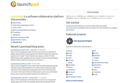 Canonical's Launchpad service for open source software