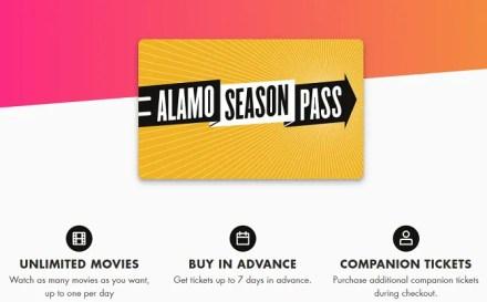 MoviePass alternatives - Alamo Season Pass