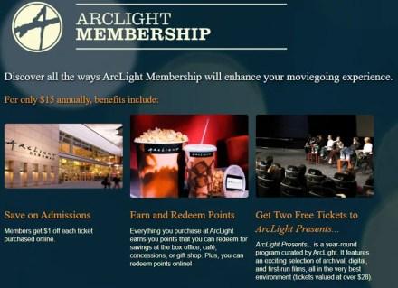 MoviePass alternatives - Arclight Membership