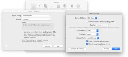compress mp3 in itunes