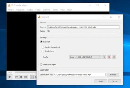 convert video vlc windows