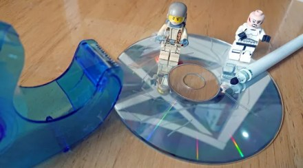 Fix holes in old CDs and DVDs