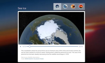 Visualize climate change with NASA tool