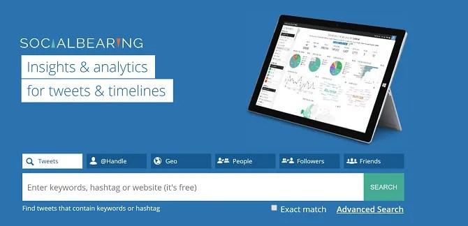 social bearing twitter analysis tool
