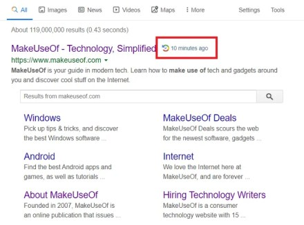 WhenX for Google Search