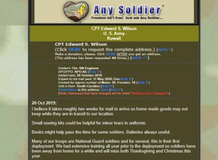 Any Soldier Contact