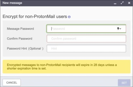 ProtonMail encrypt email