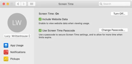 Screen Time Options on Mac