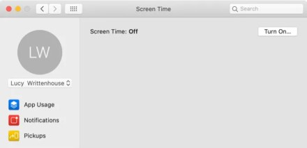 Enable Screen Time on Mac