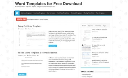 WordTemplates.org Word templates
