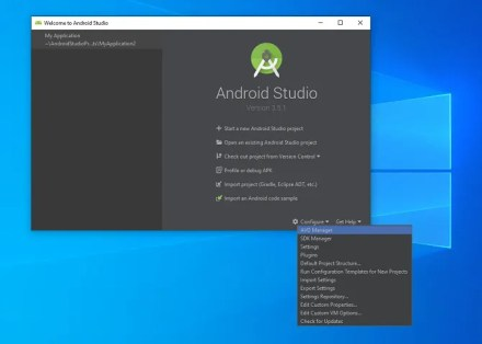 android studio access avd manager to emulate
