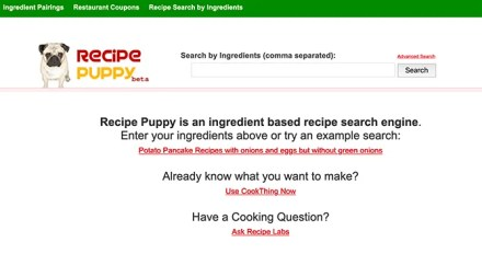 Recipe Puppy Search for Recipes