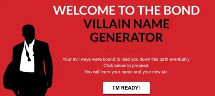 James Bond villain name generator