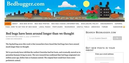 Bedbugger.com Front Page