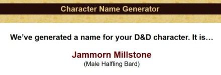 Dungeons and Dragons name generator