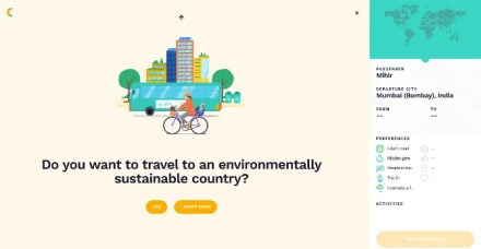 Cluey offers an easy questionnaire for inexperienced travelers to find their next destination