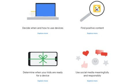 The Family Conversation Guide from Google's Digital Well-Being tells families how to have a healthy digital lifestyle