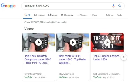 google price range computer don't know what to search