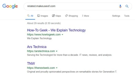 google related sites when you don't know what to search