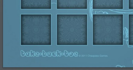 Take-Back-Toe printable board game