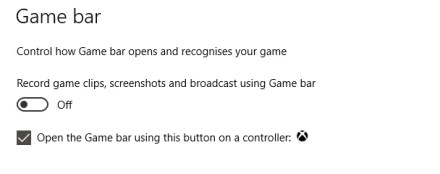 Disable the Xbox Game Bar