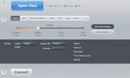 online audio converter web app