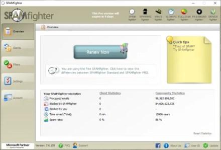 outlook spam filter spamfighter